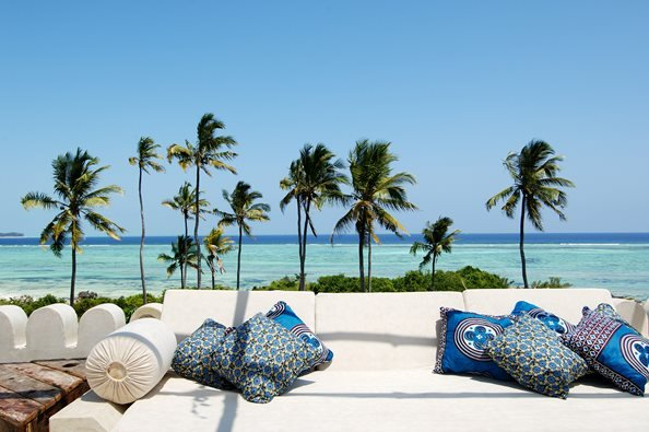 Strandhotel auf Sansibar