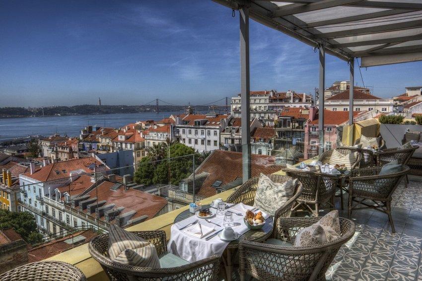 Rooftop Bars in Lissabon, hier im Hotel Bairro Alto.