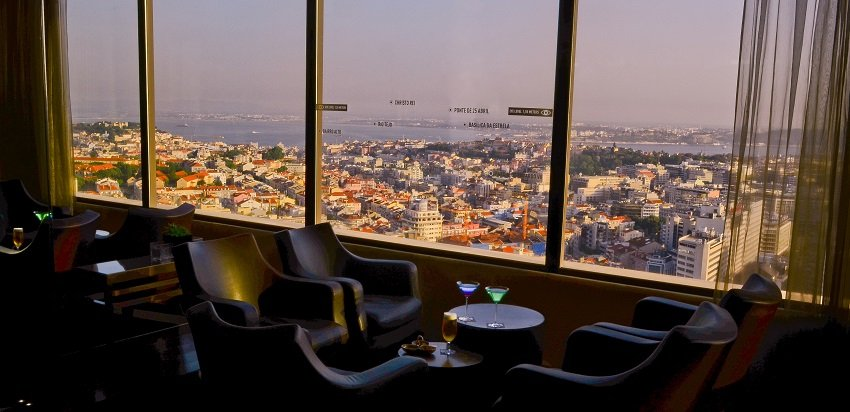 Panorama Bar, Rooftop Bar im Hotel Sheraton Lissabon