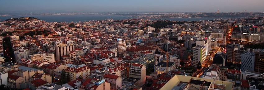 Der Blick über die Dächer von Lissabon vom höchsten Gebäude der Stadt, dem Sheraton Hotel. Copyright: Sheraton Lisboa