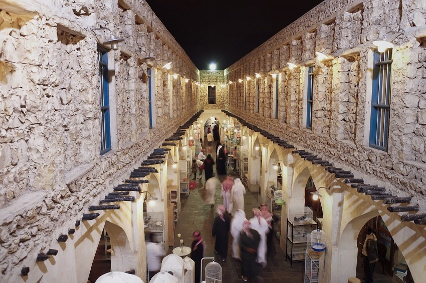 Qatar, Middle East, Arabian Peninsula, Doha, the restored Souq Waqif