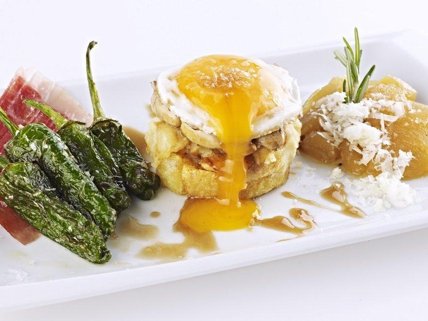 Restaurant Tast Club Palma de Mallorca, Huevos roto con foie