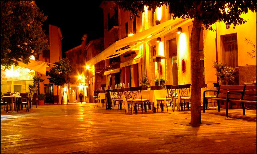 Laue Abende in Palma de Mallorca im Winter.