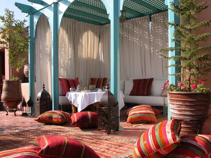Luxus Riads Marrakesch Kniza Dachterrasse