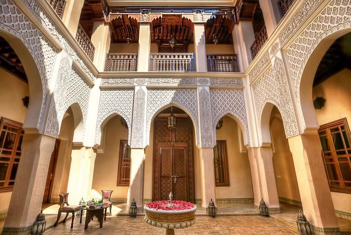 Luxus Riads Marrakesch Kniza Innenhof