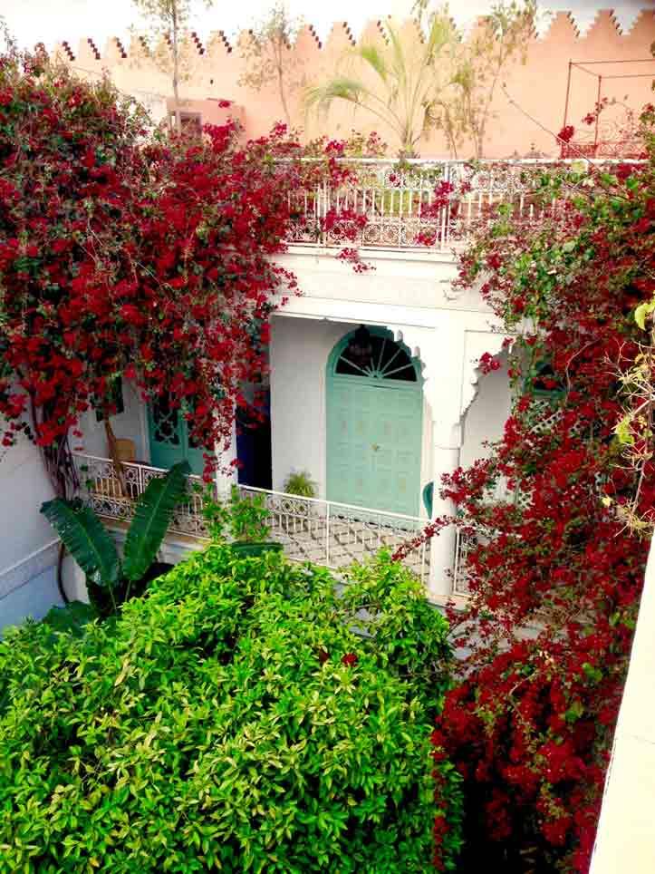 Riad Marrakesch: hier der Patio des Ifoulki