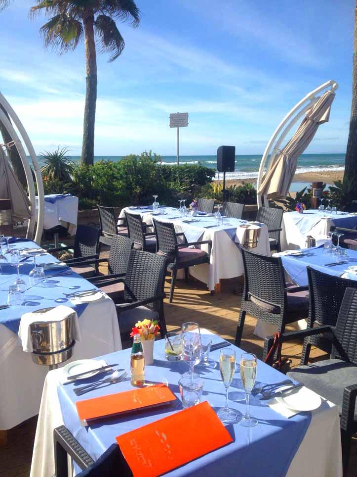 Restaurant Tipps Marbella: Beachhouse-Ausblick