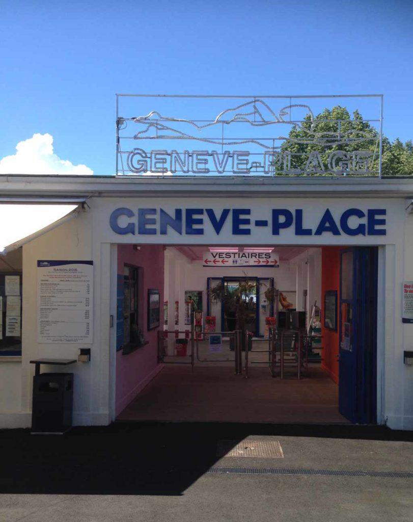 Genf-Tipps-Schwimmen im See-Genève Plage