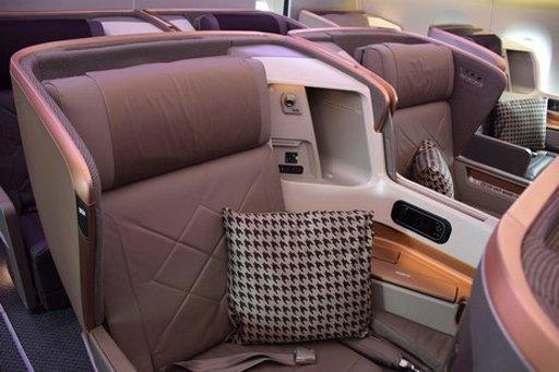 Singapore Airlines Business Class - A 350 Sitzplatz