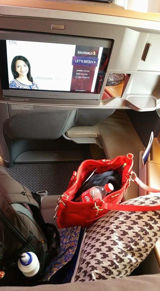 Singapore Airlines Business Class - A 350 - Sitz
