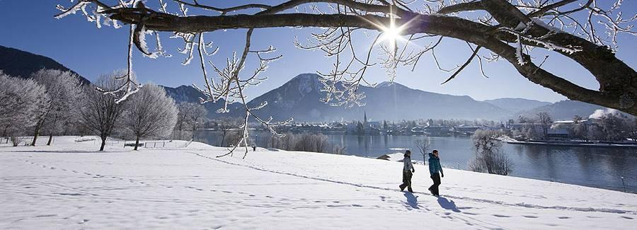 Tegernsee im Winter Panoama