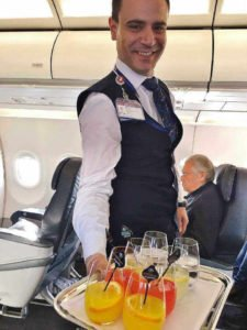 Service in der Business Class von Türkisch Airlines
