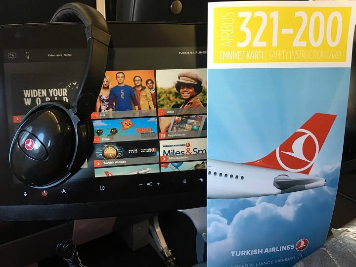 Turkish Airlines Business Class Bordunterhaltung