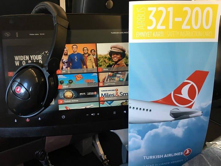 Turkish Airlines Business Class Bordunterhaltung