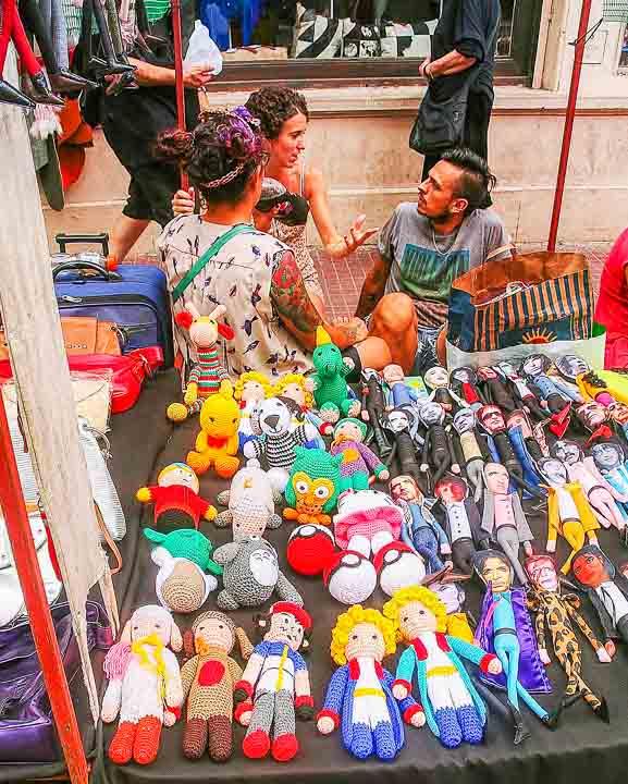 San telmo Buenos Aires Trödelmarkt