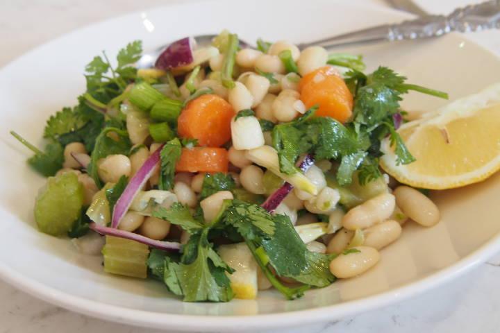 Weiße Bohnensalat