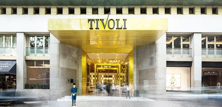 Eingang Tivoli Hotel in Lissabon