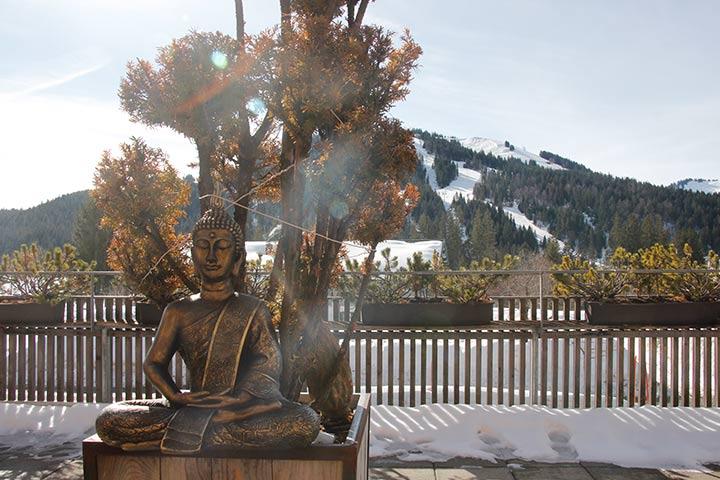 Buddha passt perfekt zum Yoga im Allgäu