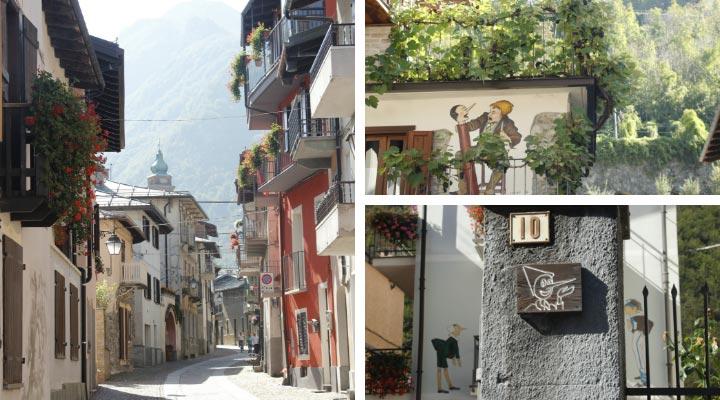 Vernante ist die Stadt von Pinocchio im Piemont