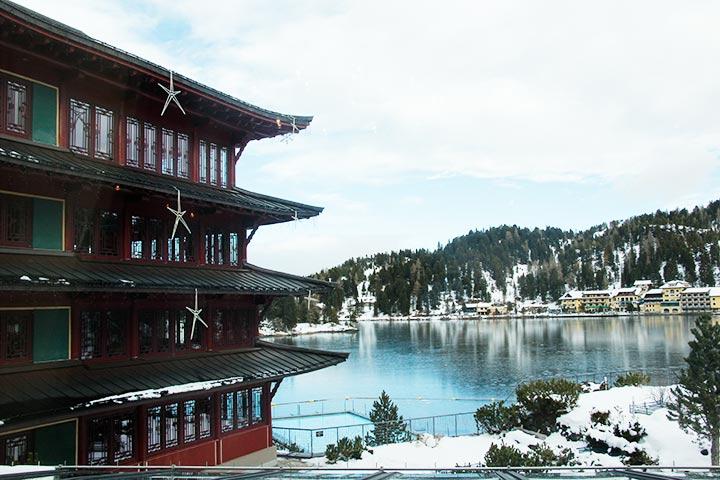 Yoga Urlaub im China Turm im Hotel Hochschober
