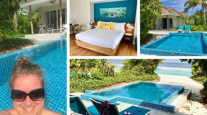 Villa mit eigenem Pool im Kandima Maldives