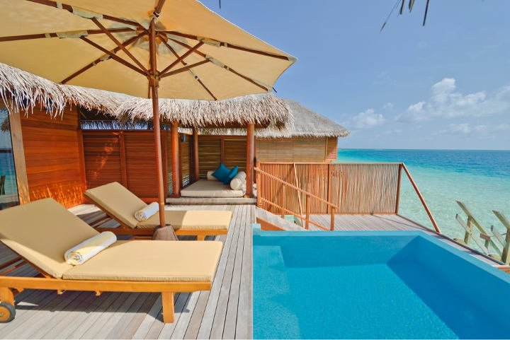 Huvafen Fushi Maldives Wasser Bungalow