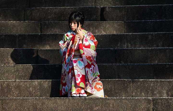 Geisha in Kyoto Japan