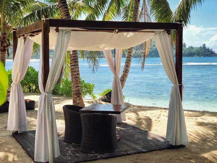 exklusive Dinnerlocation oder für Hochzeiten auf den Seychellen nutzbar.
