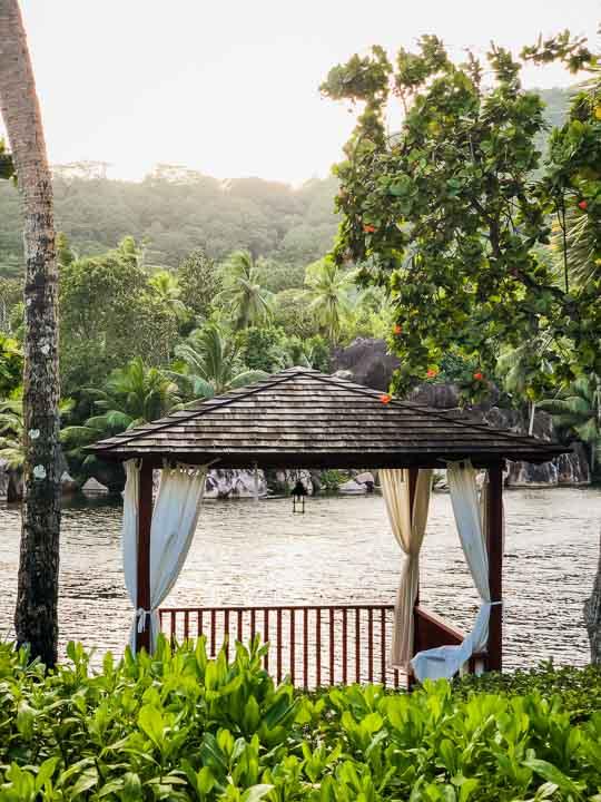 romantisches Flair an der eigenen Lagune.